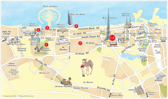 DUBAI MAP | Maps Of World, World Maps Rewiev