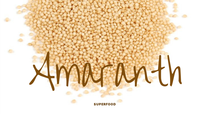 Amaranth gluten-free superfood