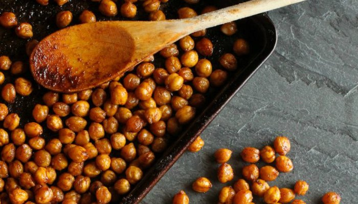 Roasted Chickpeas in the oven