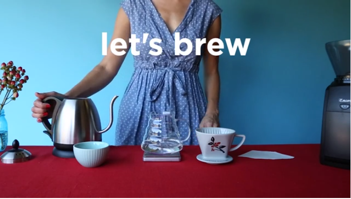 Pour over cafe video