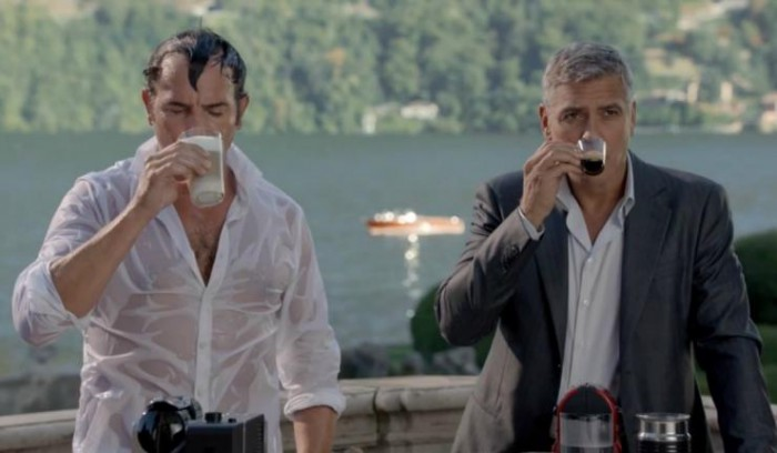 Nespresso commercial with George Clooney and Jean Dujardin