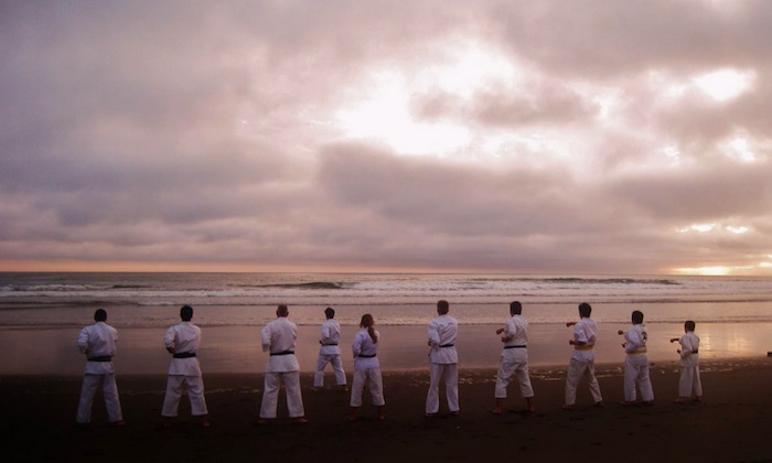 karate classes on the beach dubai