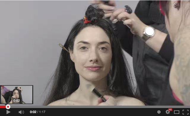 100 years of beauty in a video