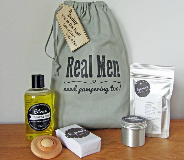 Real men need pampering too
