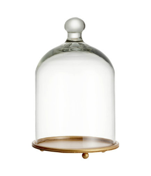 Glass dome with a plate at H&M Home