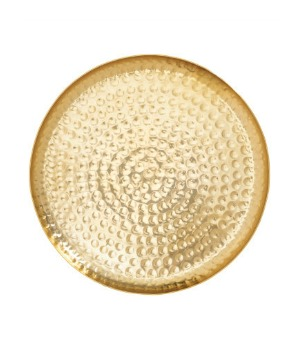 Hammered golden tray at H&M Home