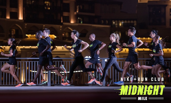 Nike midnight run Dubai