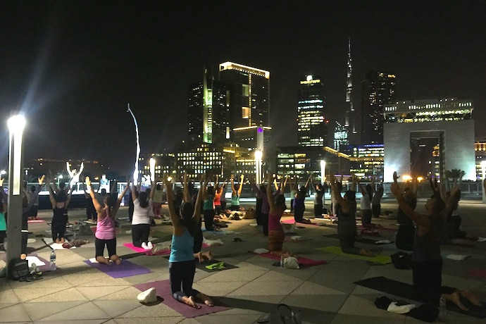 Outdoor Yoga in Dubai