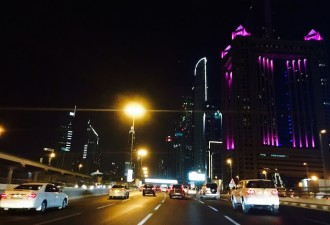 Driving on SZR Dubai