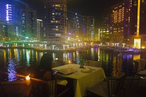 OUTDOOR TERRACE WITH BREATHTAKING VIEWS AT THIS RESTAURANT IN THE MARINA