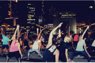 Talise Yoga on the rooftop
