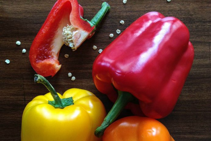 Red Bell Peppers for a good skin