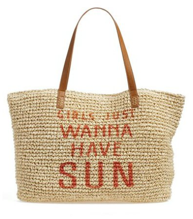 Beach bags with a message