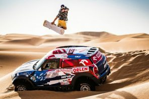 Snowboarding in the desert Red Bull