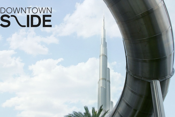 Try Out The Fun Slide In Downtown Dubai