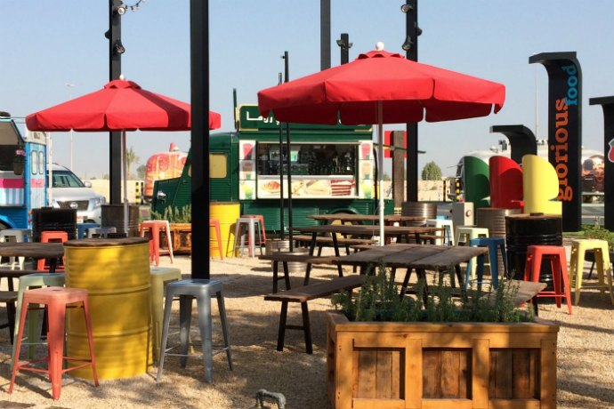 Check Out The Last Exit Gourmet Food Truck Park Dubai