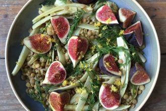 Roasted Fennel Fig and Lentil Salad by Wild Dish