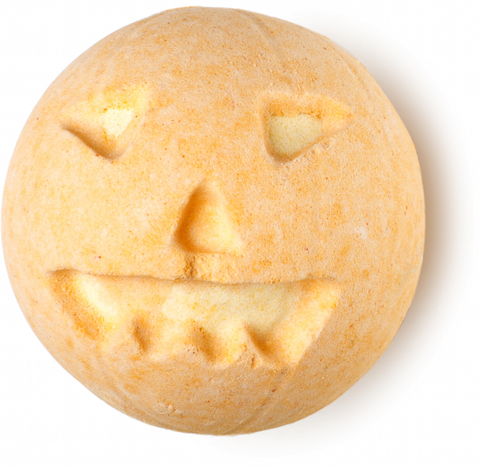 pumpkin Bathbomb at LUSH