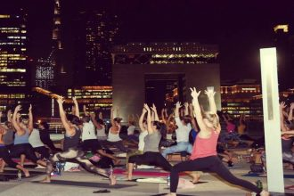 rooftop yoga in Dubai