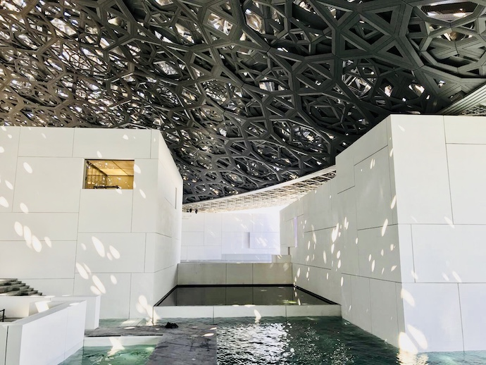 Louvre Abu Dhabi under the roof