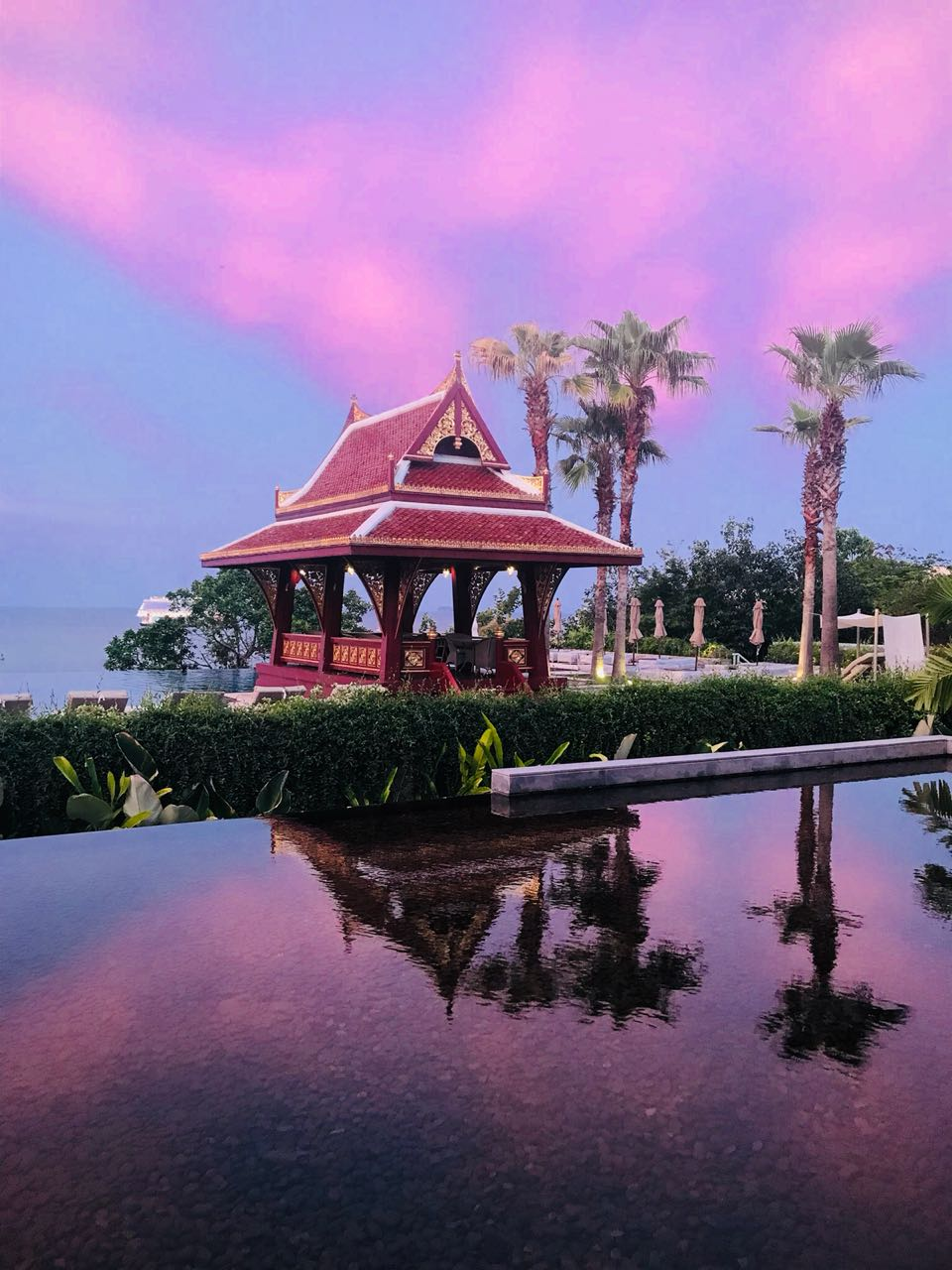 Sky colors at Amatara resort