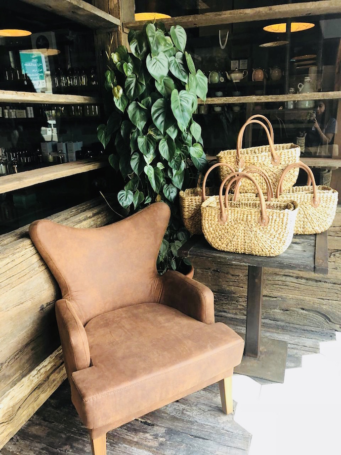 Shopping baskets at Pure South Store and Cafe