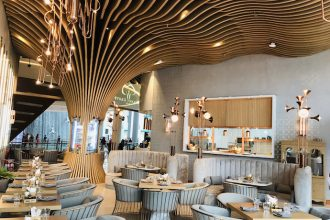 Walnut Grove cafe Decor at Dubai mall