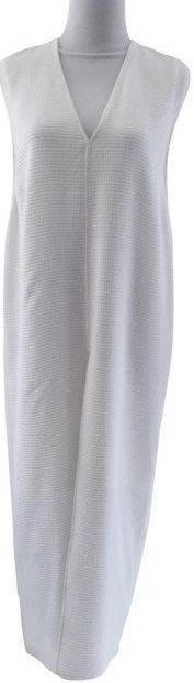 Brand New Helmut Lang Raze Drape Midi Dress Optic White with TAGS in Size US 2.