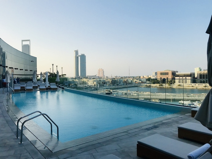 Roof top swimming pool at The Abu Dhabi Edition