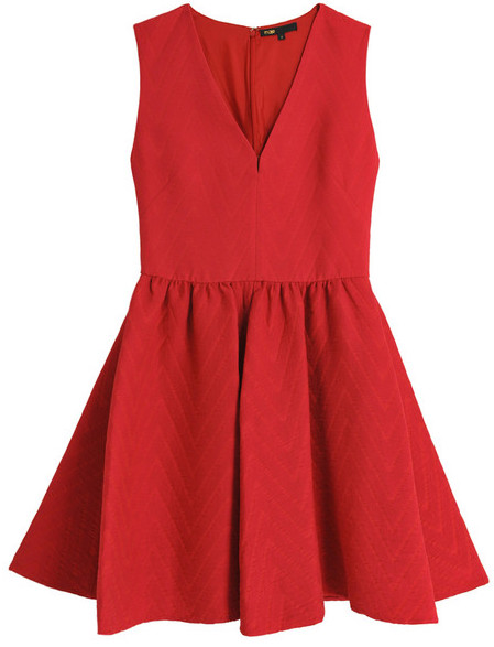 Brand New Maje Red Dress with TAGS available in Size 3.